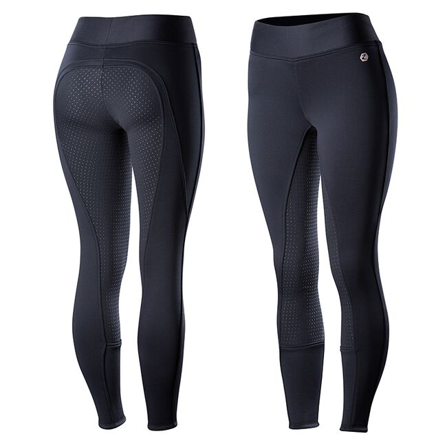 Horze Ladies' Active Fleece-Lined Silicone Full-Seat Tights image number null