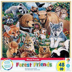 """Forest Friends"" 48 Piece Wood Puzzle"