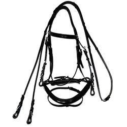 Bobby's Signature Padded Crank Flash Dressage Bridle