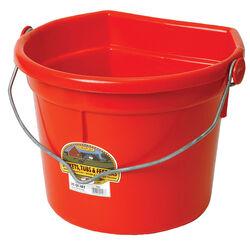 DuraFlex 22 Quart Flatback Bucket, Red