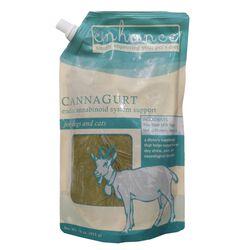 Steve's Frozen Raw Enhance Cannagurt  CBD Goat Milk Yogurt Dog & Cat Food Topper 16 oz