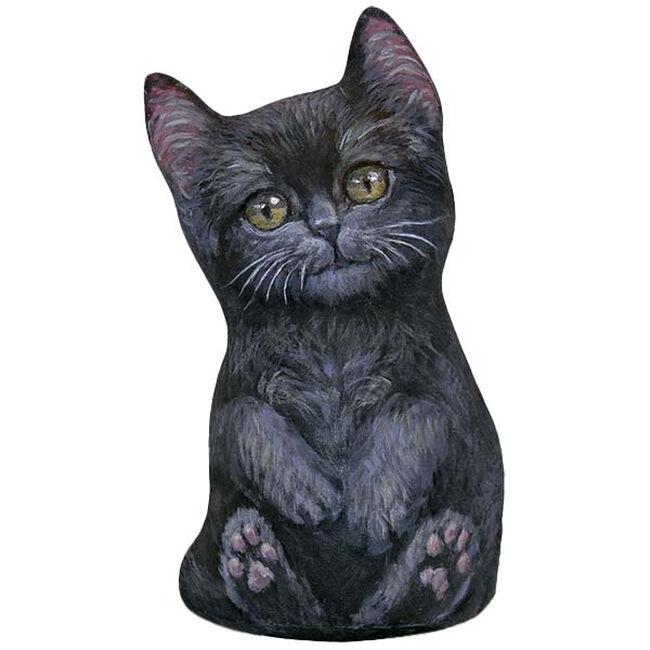 Fiddler's Elbow Black Kitten Doorstop  image number null