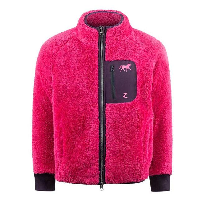 Horze Kid's Landry Fleece Jacket-Fuschia image number null