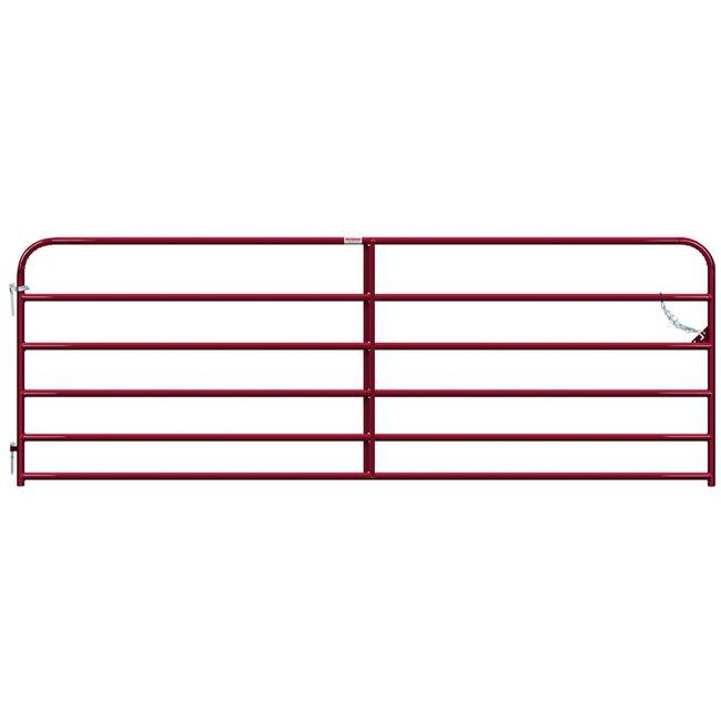 """Behlen Gate 1-5/8"""" 20 Gauge Red - 12' image number null"""