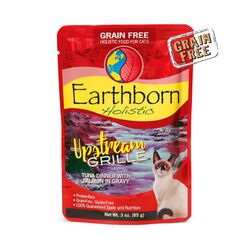 Earthborn Upstream Grille 3oz Tuna Dinner with Salmon Pouch Wet Cat Food