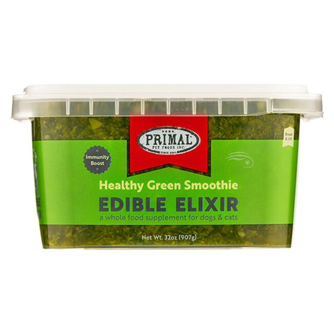 Primal Pet Foods Edible Elixirs - Immunity Boost Healthy Green Smoothie - 32 oz image number null
