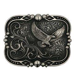 Montana Silversmiths Gunmetal Soaring Eagle Buckle