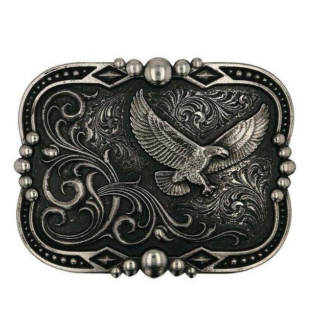 Montana Silversmiths Gunmetal Soaring Eagle Buckle image number null