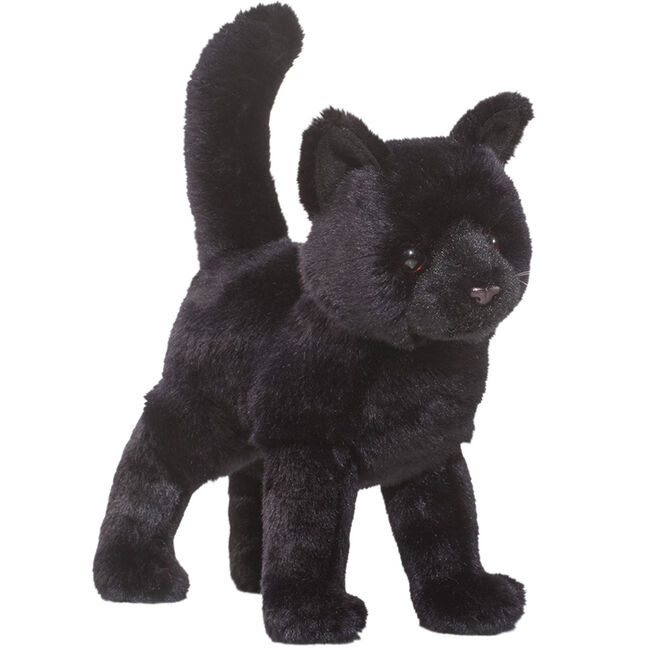 Douglas Midnight Black Cat Plush Toy image number null
