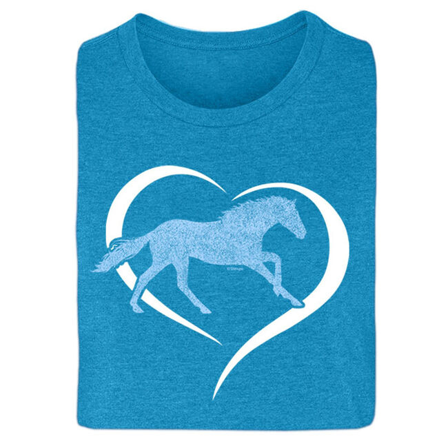 "Stirrups ""Horse In Heart"" Short Sleeved Ladies Tee image number null"