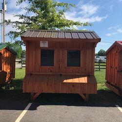 Amish 6X8 Bronze Roof Chicken Coop