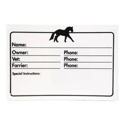 Jacks Stall ID Plaque