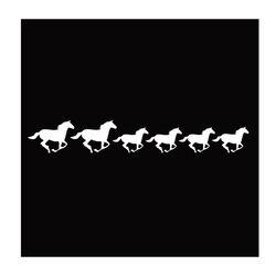 GT Reid Line Horses Vinyl Decal