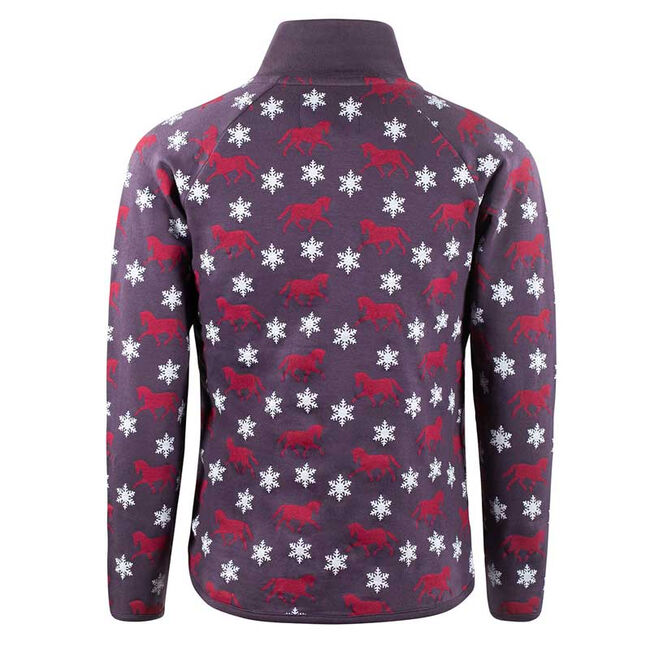 Horze Cory Kid's Print Sweatshirt-Plum Perfect-XS image number null