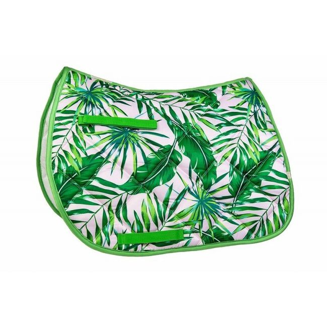 Union Hill LÉTTIA Collection Printed All Purpose Saddle Pad - Palm Leaves image number null