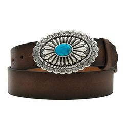 Ariat Turquoise Stone Oval Buckle Belt
