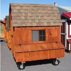 Amish 6x6 Dutch Coop with Wheels