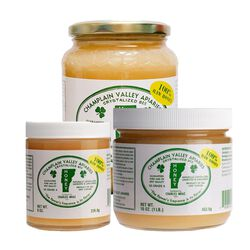 Champlain Valley Apiaries Glass Jar of Raw Naturally Crystallized Honey