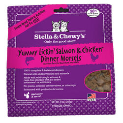 Stella & Chewy's Yummy Lickin' Salmon & Chicken Dinner Morsels Freeze Dried Cat Food