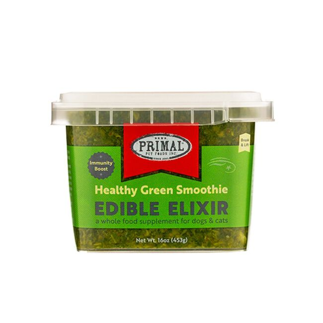 Primal Pet Foods Edible Elixirs - Immunity Boost Healthy Green Smoothie - 16 oz image number null