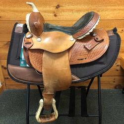 Used Custom Buffalo Saddlery Circle S Western Barrel Saddle