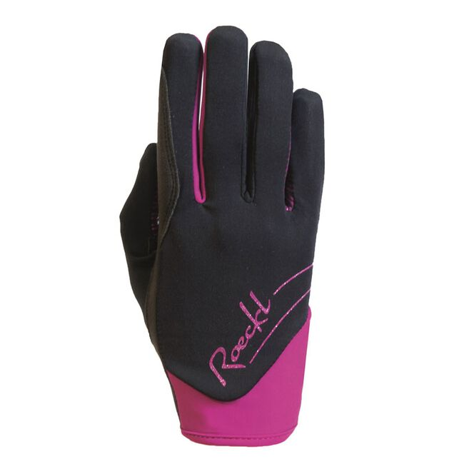 Roeckl June Winter Riding Glove - Black/Berry image number null