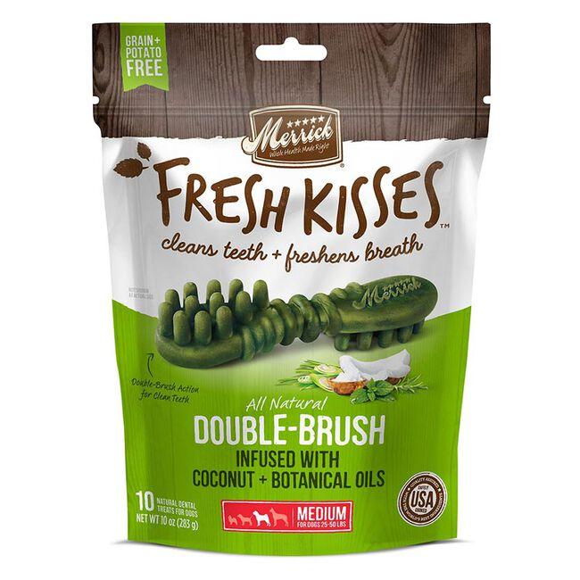 Merrick Fresh Kisses Dog Dental Treats, Medium Dogs (10 Count) image number null