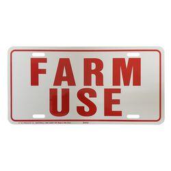 """""""Farm Use"""" Vehicle ID Tag"""