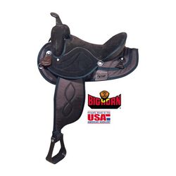 Big Horn Suede Seat Synthetic Western Saddle