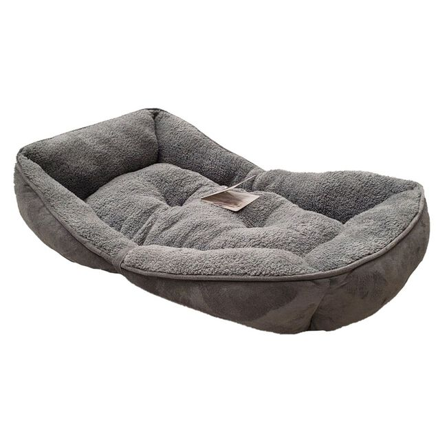 All for Paws Lambwool Bolster Dog Bed - Grey image number null