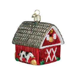 Old World Barn Ornament