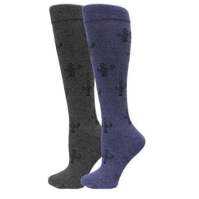 Wrangler Ladies Cactus Knee High Socks image number null