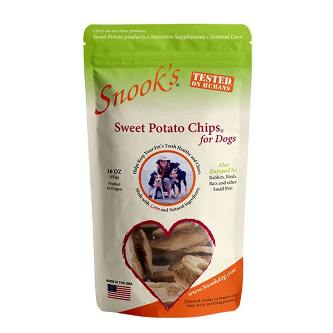 Snook's Sweet Potato Chips for Dogs - 1lb image number null