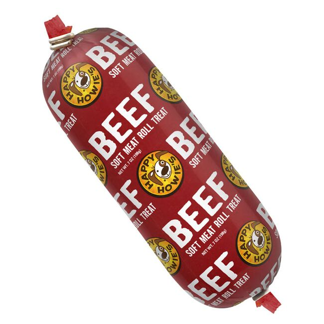 Happy Howie's Beef Roll Dog Treat - 7oz image number null