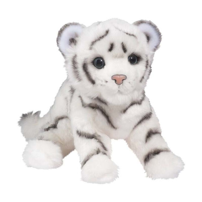 Douglas Silky White Tiger Cub Toy image number null
