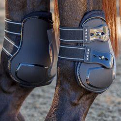 Professional's Choice Pro Performance Open Front Hind Boots Black