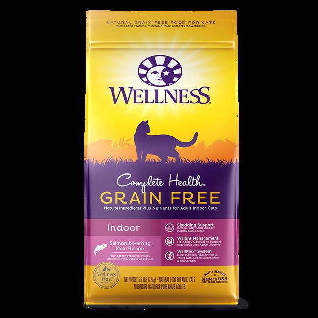 Wellness Complete Health Salmon & Herring Grain Free Indoor Cat Food -5.5 lb image number null