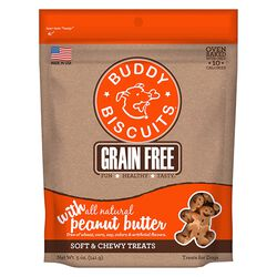 Buddy Biscuits Grain Free Soft & Chewy Treats: Peanut Butter