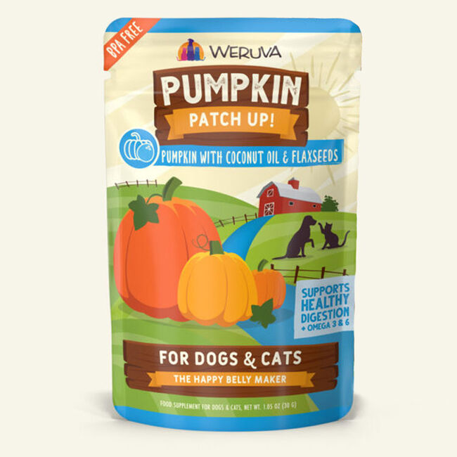 Weruva Pumpkin Patch Up Pumpkin w/ Coconut Oil & Flaxseeds Supplement for Cats & Dogs - 1.05 oz image number null