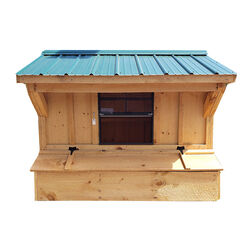 NV Farms 5' X 7' Chicken Coop With Green Metal Roof