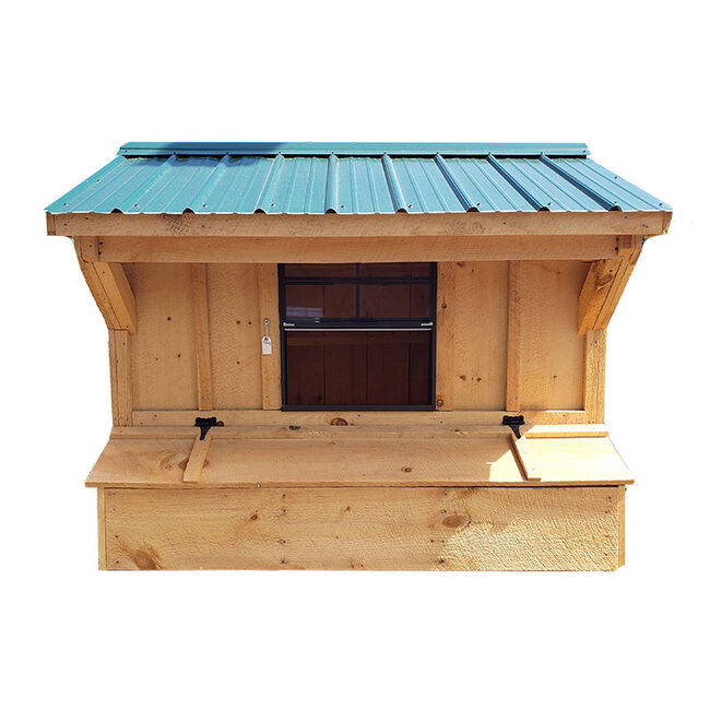 NV Farms 5' X 7' Chicken Coop With Green Metal Roof image number null