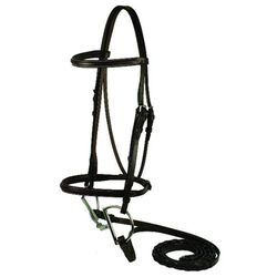 Gatsby Square Raised Snaffle Bridle