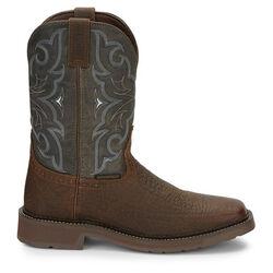 Justin Boots Men's Amarillo Slate Waterproof Western Work Boot