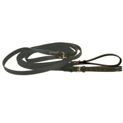 Tory Leather Web & Leather Draw Reins Black