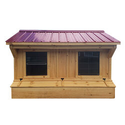 NV Farms 6' X 9' Chicken Coop With Red Metal Roof
