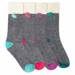 Carhartt Girl's Camp Socks 6 Pack