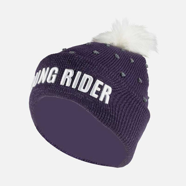 Horze Terry Kids Reflective Knitted Hat image number null