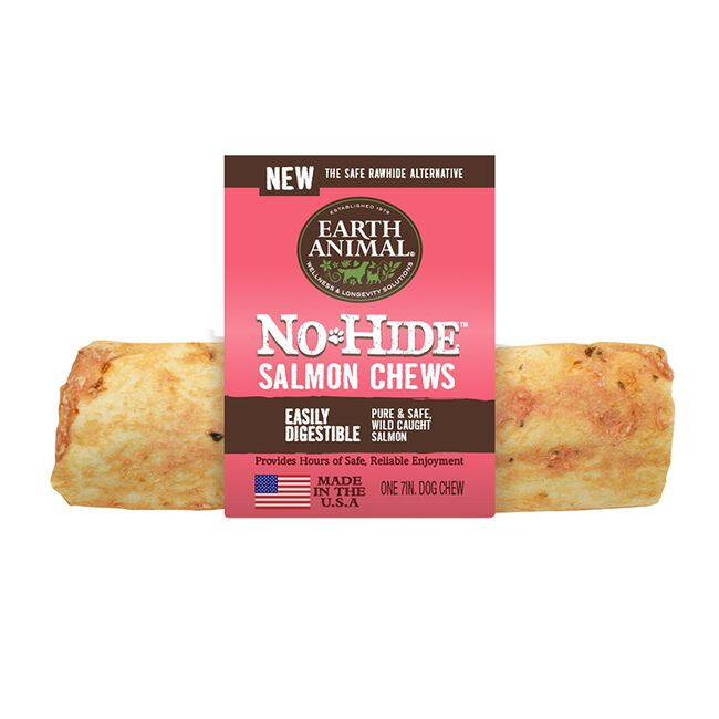 """Earth Animal No-Hide Salmon Chews for Dogs - 7"""" image number null"""