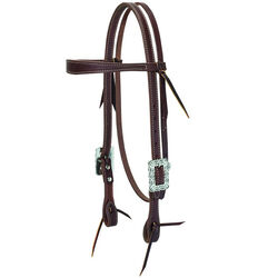Weaver Working Cowboy Slim Browband Headstall with Scalloped Hardware