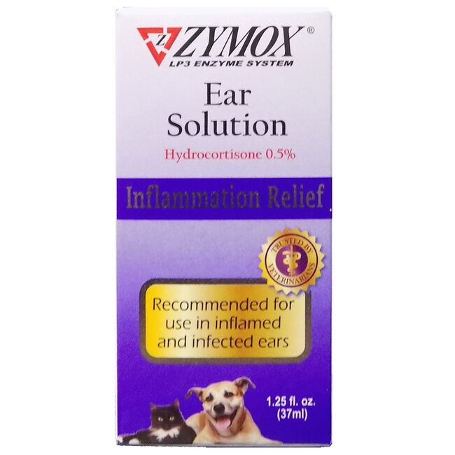 Zymox Ear Solution w/ .5% hydrocortisone image number null